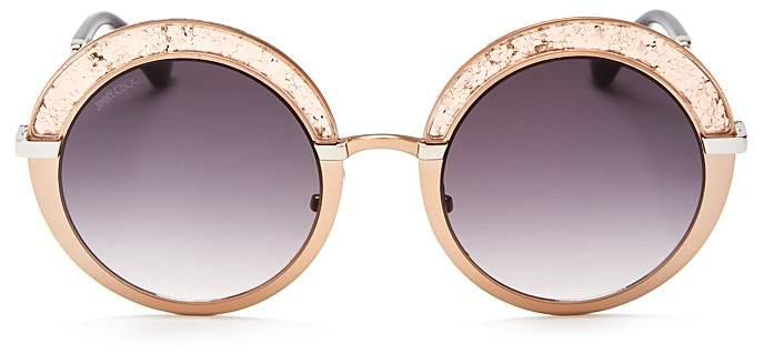 Jimmy ChooJimmy Choo Gotha Glitter Round Sunglasses, 50mm