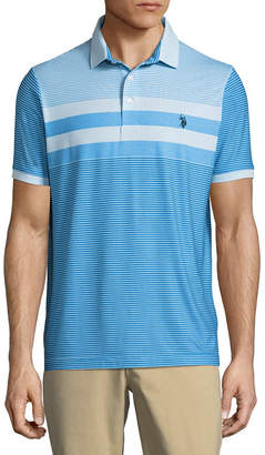 U.S. Polo Assn. USPA Embroidered Short Sleeve Stripe Polo Shirt