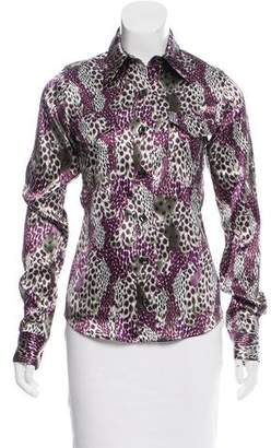 Reed Krakoff 2015 Printed Long Sleeve Button-Up