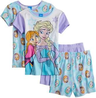 Disney Disney's Frozen Anna & Elsa Girls 4-10 Top & Shorts Pajama Set