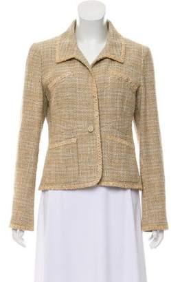 Chanel Linen-Blend Tweed Blazer