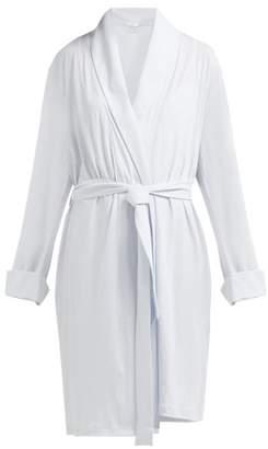 Skin - Kellyn Pima Cotton Jersey Robe - Womens - Light Blue