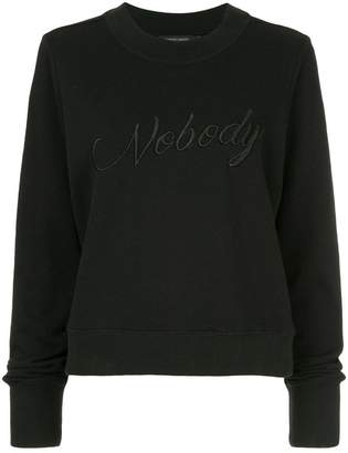 Nobody Denim Embroidered Favourite Sweat King