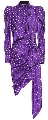 Alexandre Vauthier Polka-dot silk dress
