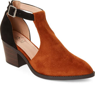 Gc Shoes Tan & Black Harley Cutout Ankle Booties