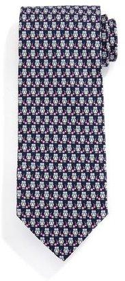 Salvatore Ferragamo Owl-Print Silk Tie, Gray/Pink $190 thestylecure.com