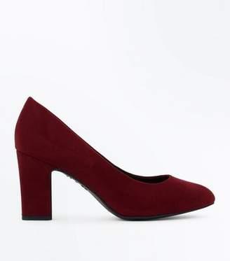 dcc7ceeef4e0 New Look Wide Fit Burgundy Comfort Flex Court Shoes