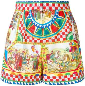 Dolce & Gabbana Sicilian Carretto print shorts