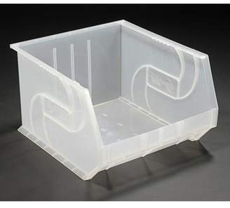 "clear Lewisbins LEWISBins PB1816-11CLEAR Plastic Stacking Bin - 16-1/2""W x 18""D x 11""H, Clear, Lot of 3"