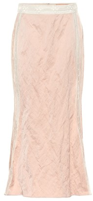 Brock Collection Lace-trimmed midi skirt