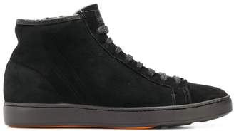 Santoni side zip hi-top sneakers