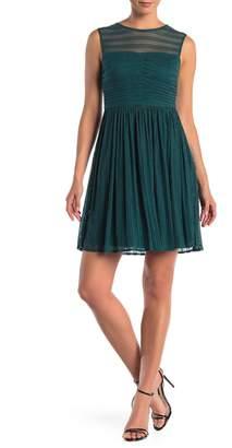 London Times Metallic Sleeveless Dress