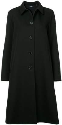 Jil Sander Navy Classic Tailored Coat
