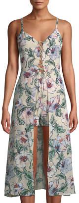 Ali & Jay Floral Lace-Up Dress-Back Romper
