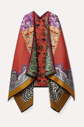 Etro Patchwork Wool-blend Jacquard Wrap - Red