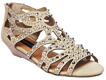 Steve Madden STEVEN BY Trex Studded Nubuck Gladiator Wedge Sandals