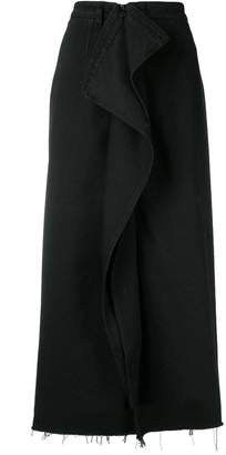 MM6 MAISON MARGIELA front ruffle skirt