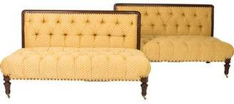 Pair of Tufted Settees