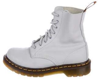 Dr. Martens Leather Round-Toe Ankle Boots