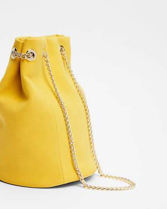 Express Chain Handle Bucket Bag