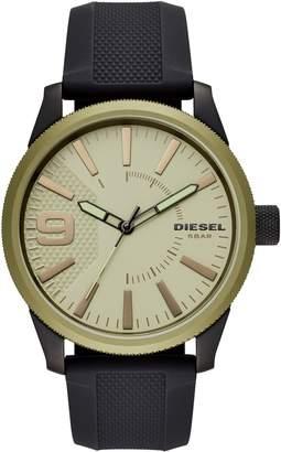 Diesel R) Rasp Silicone Strap Watch, 46mm