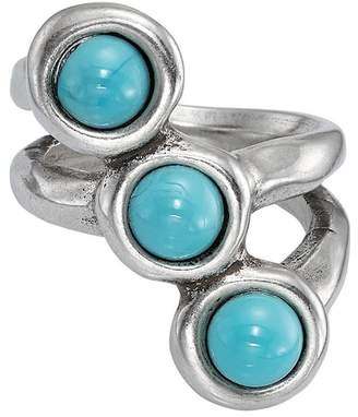 Uno de 50 Super-Ego Bezel Set Murano Crystal Ring