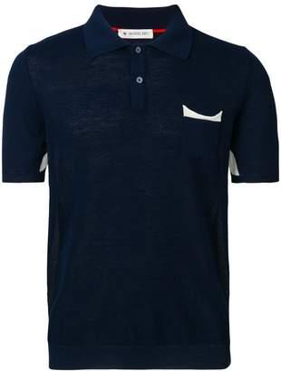 Manuel Ritz contrast pocket polo shirt