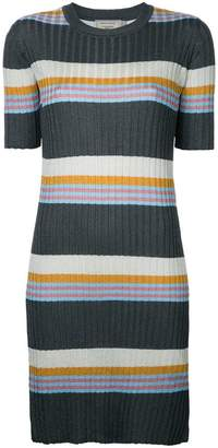 MAISON KITSUNÉ striped ribbed-knit dress