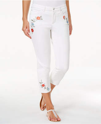 Charter Club Bristol Embroidered Capri Jeans, Only at Macy's $59.50 thestylecure.com