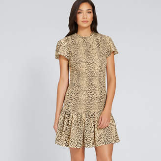 Seed Heritage Shirred Animal Print Dress