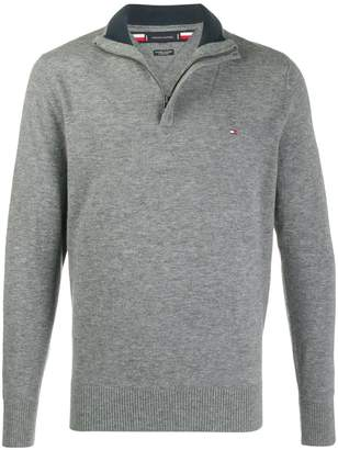 Tommy Hilfiger zip-front knit jumper