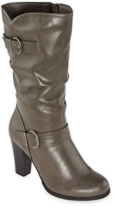 East Fifth east 5th Womens Nevin Block Heel Slouch Boots