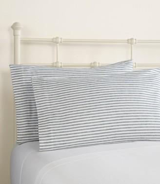 L.L. Bean L.L.Bean Ultrasoft Comfort Flannel Pillowcases, Stripe Set of Two