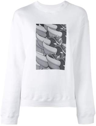 Julien David print detail sweatshirt