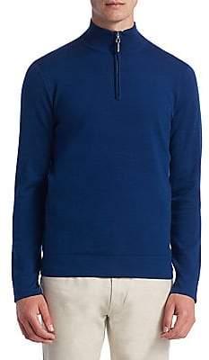Saks Fifth Avenue Tech Merino Wool Quarter-Zip Sweater