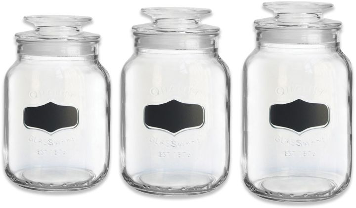 Bed Bath & Beyond Chalkboard Glass Canisters (Set of 3)