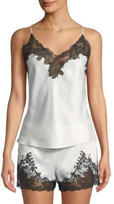 Natori Plume Lace-Trim Camisole Short Pajama Set