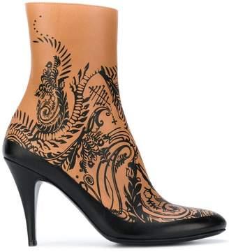 A.F.Vandevorst (エーエフ ヴァンデヴォルスト) - A.F.Vandevorst patterned ankle boots
