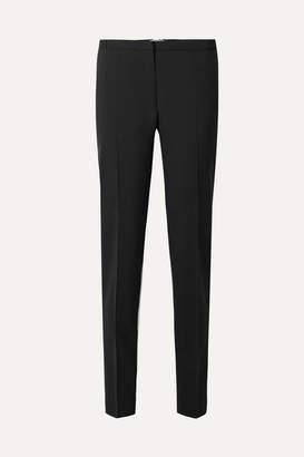 Prada Silk-paneled Wool-crepe Tapered Pants - Black
