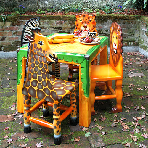 In the Jungle Table and Chair Set