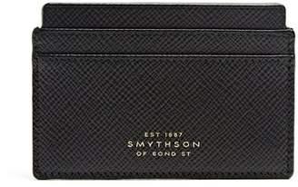 Smythson Panama Grained Leather Cardholder - Mens - Black