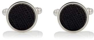 Prada Men's Saffiano Leather & Silver Cufflinks