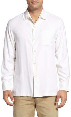 Men's Big & Tall Tommy Bahama Catalina Twill Classic Fit Silk Camp Shirt $128 thestylecure.com
