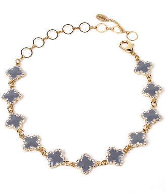 Amrita Singh Noho Crystal & Enamel Clover Choker Necklace
