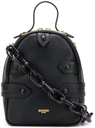 Moschino buckled backpack