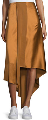 Elizabeth and James Sydney Silk Satin Midi Skirt, Coppertone $375 thestylecure.com