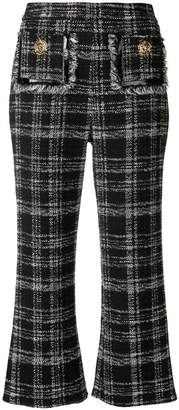 Elisabetta Franchi checked print cropped trousers