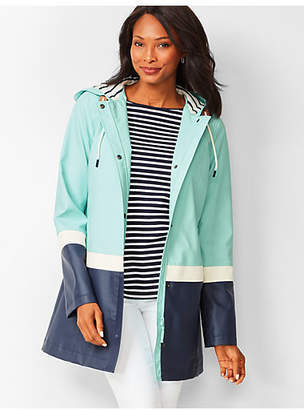 Talbots Colorblock Hooded Raincoat