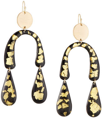 Nakamol Horseshoe Resin Drop Earrings