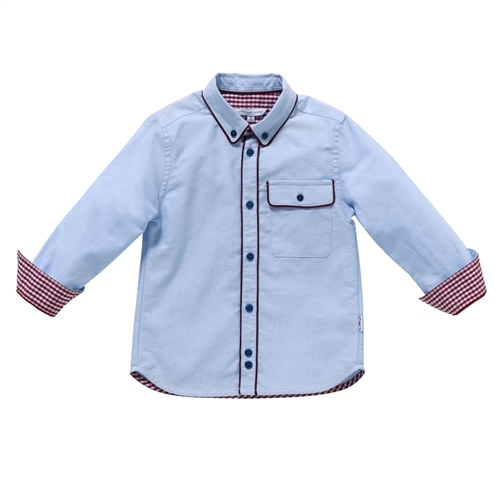 Little Marc Jacobs Boy's Mini Me Oxford Shirt with Piping - Bleach